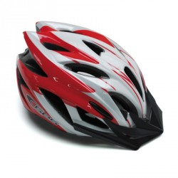 CASQUE VELO GES FLOW ROUGE-BLANC