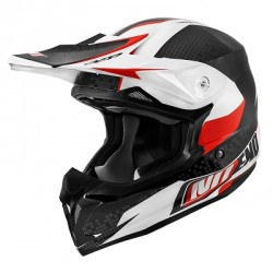 CASQUE CROSS NOEND DEFCON BANC/ROUGE