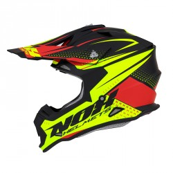 CASQUE CROSS NOX N632 SCRUB ROUGE-JAUNE