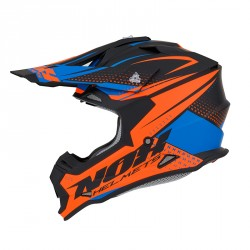 CASQUE CROSS NOX N632 SCRUB ORANGE-BLEU