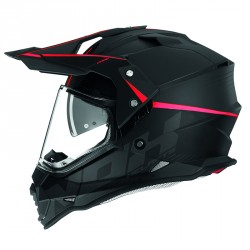CASQUE CROSS NOX N312 CROW ROUGE