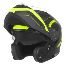 CASQUE MODULABLE NOX N965 PEAK JAUNE