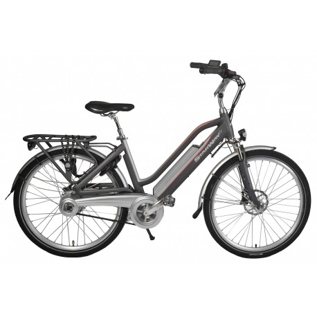 """VELO ELECTRIQUE STARWAY TOURING 26"""" GRIS MAT"""