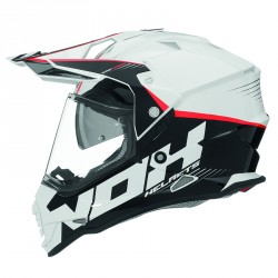 CASQUE CROSS NOX N312 CROW BLANC