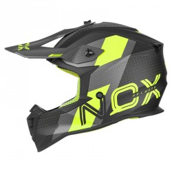 CASQUE CROSS NOX N633 VIPER JAUNE