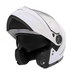 CASQUE MODULABLE NOX N965 BLANC BRILLANT