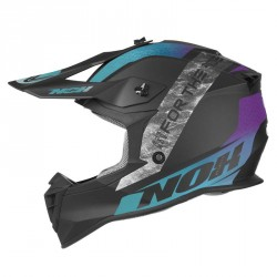 CASQUE CROSS NOX N633 ONYX BLEU VIOLET