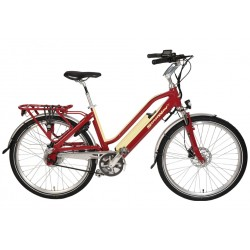 """VELO ELECTRIQUE STARWAY TOURING 26"""" ROUGE"""