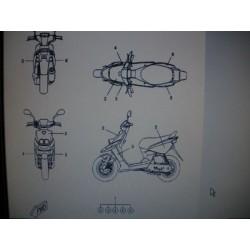 PLANCHE DECORS COMPLET ROCKET NOIR