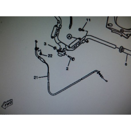 CABLE DE GAZ COMPLET SKYLINER03- 125cc