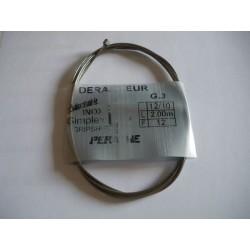 CABLE DE DERAILLEUR INOX 2,00M